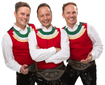 Bild zeigt Die österreichische Band Die jungen Zillertaler, sie stellen sich in den Dienst der guten Sache beim Scheffauer Dorfabend